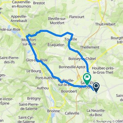 De 355 Route de Salverte, Saint-Eloi-de-Fourques à Route de Bosrobert, Saint-Eloi-de-Fourques