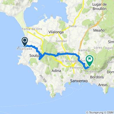 Route from Rúa A Lanzada, 92, Sanxenxo