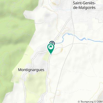 De D7, Montignargues à D7, Montignargues