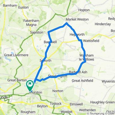 14 The Hambros, Bury St Edmunds to 14 The Hambros, Bury St Edmunds