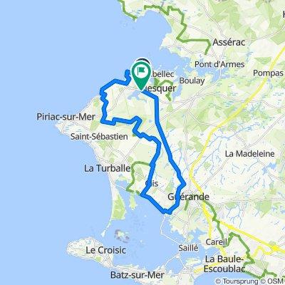 De Route des Parcs Chateaux (ce) 380, Mesquer à Chemin de Bernilly 237, Mesquer
