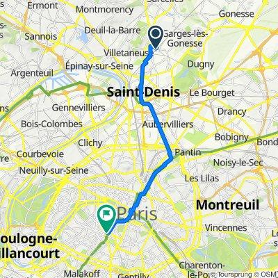 De Avenue Ledru-Rollin, Pierrefitte-sur-Seine à 60 Boulevard du Montparnasse, Paris