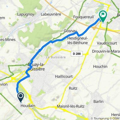 De Route de Divion 3, Houdain à Zone d'activité Actipolis, Fouquières-lès-Béthune