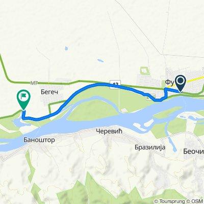 Cara Lazara 69, Futog to Unnamed Road, Begeč