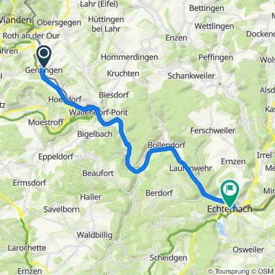Ourtalstraße 6, Gentingen nach Rue du Pont 2–4, Echternach