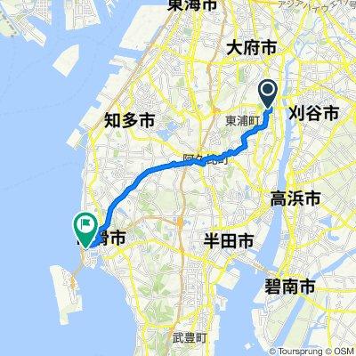 De 69, Ogawa Heisei, Higashiura-Cho, Chita-Gun a Rinkucho 1-Chōme, Tokoname-Shi