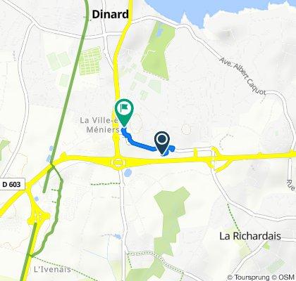 19 Rue de la Ville Biais, La Richardais nach Rue du Haut Chemin, Dinard