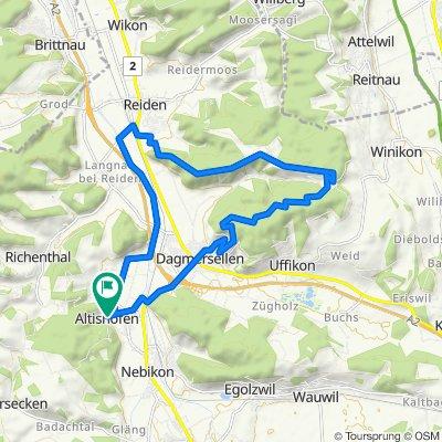 Oberdorf 19, Altishofen nach Grünauring 9, Altishofen