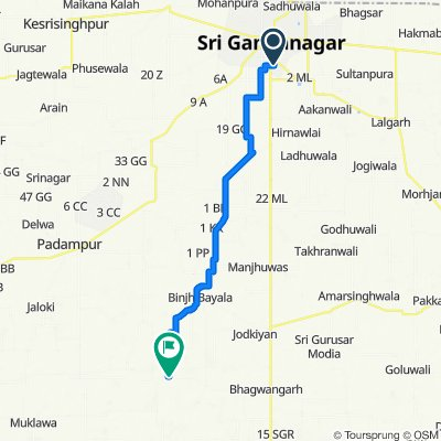 17 Extention Road 3, Sri Ganganagar to Ridmalsar