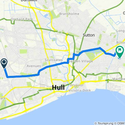 121 Priory Road, Hull to 15 Wingfield Road, Hull