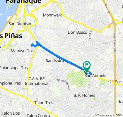 Bayabas Street 49, Parañaque to Sampaloc Avenue 38, Parañaque
