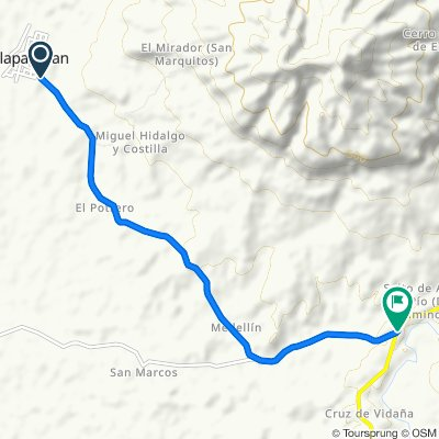 De Carretera Tres Zapotes - Dos Caminos a Santiago Tuxtla - Playa Vicente, Tilapan