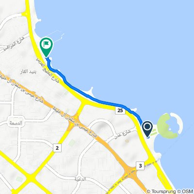 Arabian Gulf Street, Kuwait City to Arabian Gulf Street