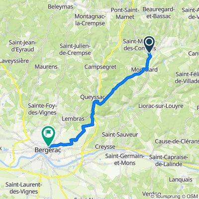 De D39, Saint-Martin-des-Combes à Avenue du 108ème Régiment d'Infanterie 19, Bergerac