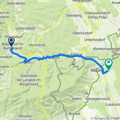 Anger 2, Bubendorf im Burgenland nach Csepregi út, Kőszeg