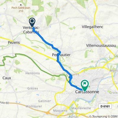 Avenue du Stade 35, Ventenac-Cabardès to Place Davilla, Carcassonne