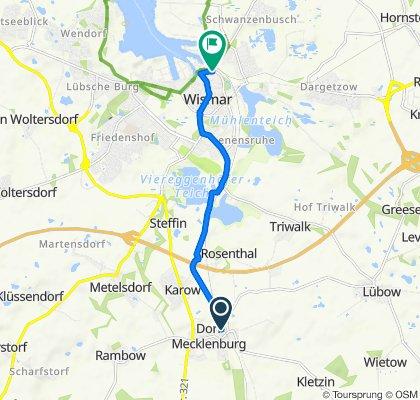 Stadtweg, Dorf Mecklenburg nach Am Poeler Tor 2, Wismar