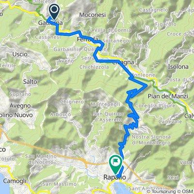 Da Via San Giacomo 9, Gattorna a Via Privata Fratelli Solari 2, Rapallo