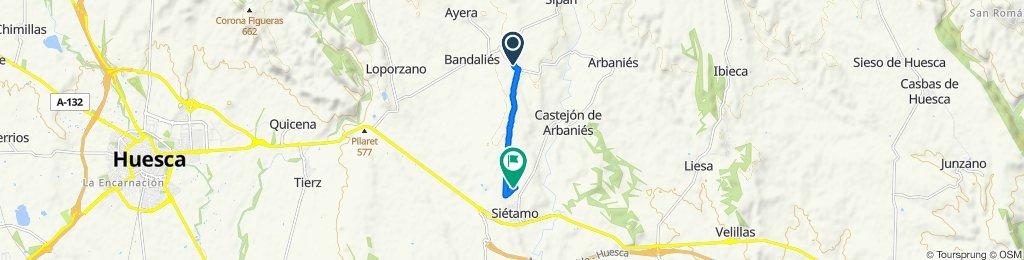 Ruta desde Carretera de Huesca a Arbanies, Loporzano