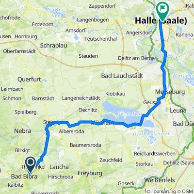 Am Schwimmbad 5, Bad Bibra nach Hansering 1, Halle (Saale)