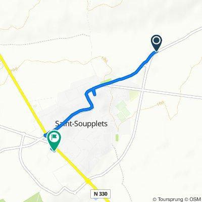 Route de Forfry, Saint-Soupplets to 1 Rue du 5 Septembre 1914, Saint-Soupplets