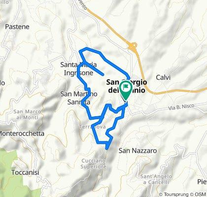 Da Viale Principe Carlo Spinelli, San Giorgio del Sannio a Viale Principe Carlo Spinelli 110, San Giorgio del Sannio