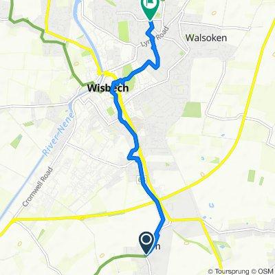 The Bell Inn, Main Road, Wisbech to 41 Waterlees Road, Wisbech