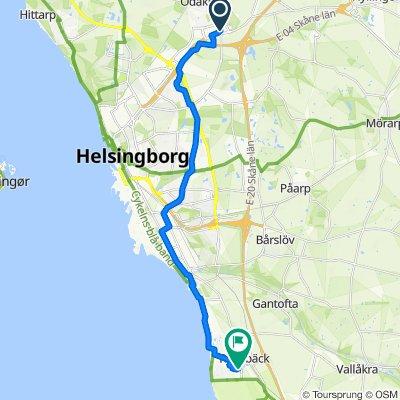 Björkavägen 103, Helsingborg to Singögatan 40, Helsingborg