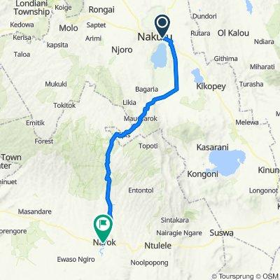 Nakuru to Narok