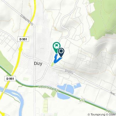 Route to 790–888 Route de Reims, Dizy