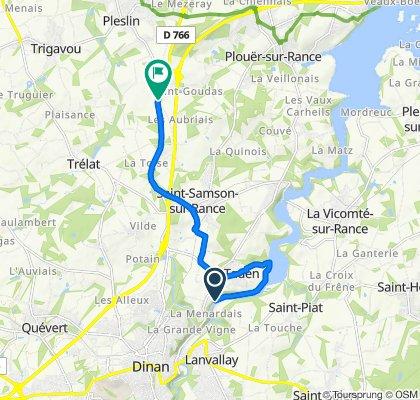 Route naar D766, Pleslin-Trigavou