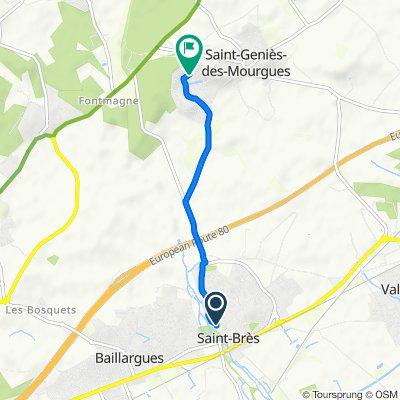 De 17 Rue du Bérange, Saint-Brès à 162 Rue des Frênes, Saint-Geniès-des-Mourgues