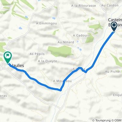 De D40, Castelnau-Barbarens à 226 Chemin du Village, Haulies