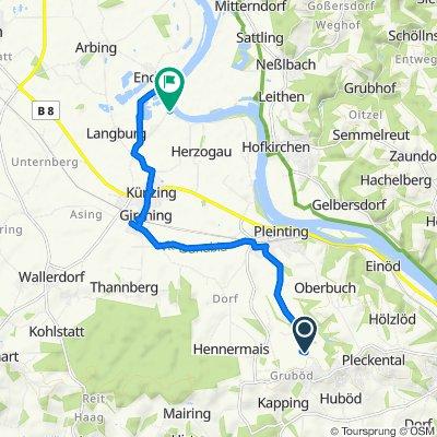 Endfelden 1, Vilshofen an der Donau nach Unnamed Road, Osterhofen