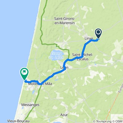 De Route de Retgeyre 1617, Linxe à Impasse de la Dune 7, Moliets-et-Maa