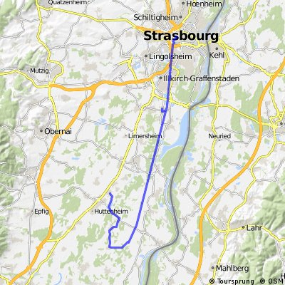 Elsass-Radtour Tag 1