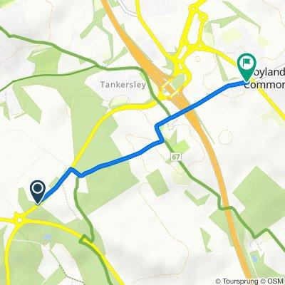 Westwood New Road, Barnsley to School House, Tankersley Lane, Barnsley