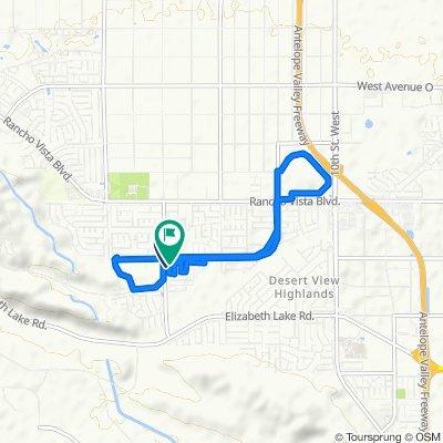 Peony Way, Palmdale to 39130 Silverberry Ln, Palmdale