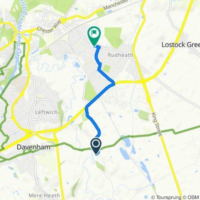 Manor Lane, Northwich to 2–10 Richard Street, Northwich