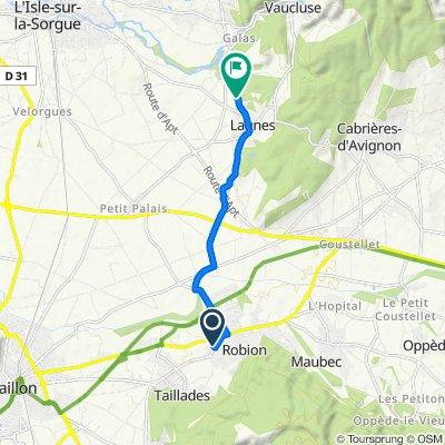 De Allée du Canier 73, Robion à Chemin des Moulins 593, Lagnes