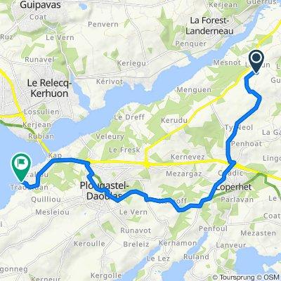 Itinéraire vers 177–287 Route de Porz Keralliou, Plougastel-Daoulas