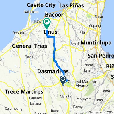 Route to Nia Road, Imus City