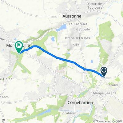 De N224, Cornebarrieu à Vigneaux, Mondonville
