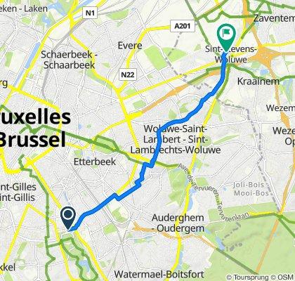 De Avenue Lloyd George 6, Bruxelles à Sint-Stefaansstraat 58, Zaventem
