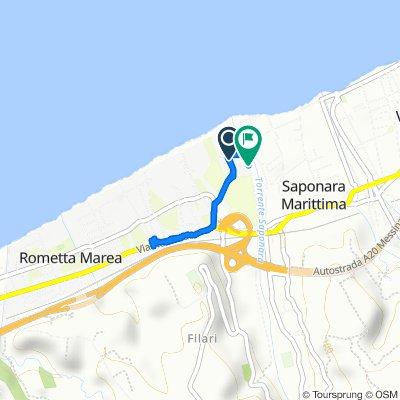 Percorso per Seconda Traversa Via Giampaolo 8/h–11/c, Rometta