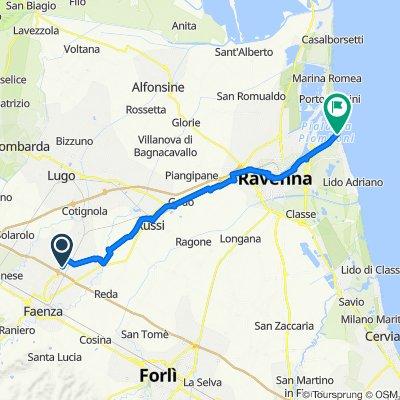 Da SP8 207, Faenza a Bagno B.B.K., Punta Marina