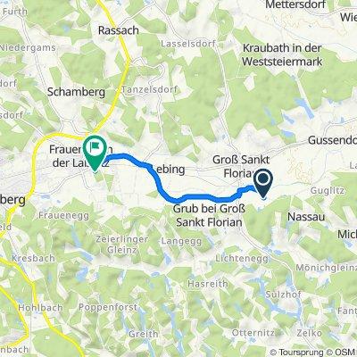 Grünauerstraße, Groß St. Florian nach Florianistraße 48, Frauental an der Laßnitz
