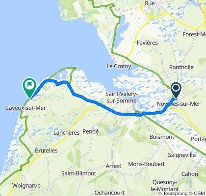 De Rue Adéodat Watripon, Noyelles-sur-Mer à 1518 Boulevard du Général Sizaire, Cayeux-sur-Mer
