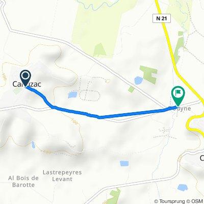 De 1 Route Saint-Martin, Cahuzac à Route de Lauzun, Castillonnès