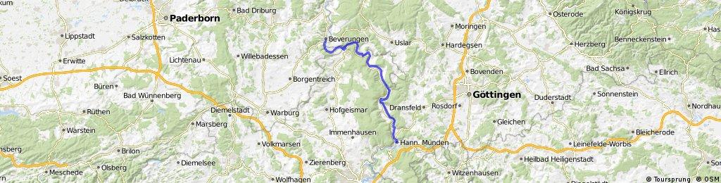 Weser-Radweg: Hann. Münden - Bad Karlshafen/Beverungen CLONED FROM ROUTE 24